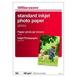 Papier photo Office Depot Standard A4 180g Brillant