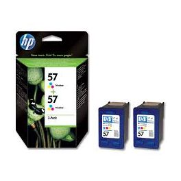 PACK 2 CART JE HP 57 COUL C9503AE