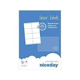 Etiquettes adresses laser niceday - 105x72mm