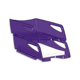 Corbeille courrier Maxi CepPro Happy violet profond