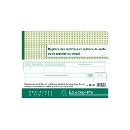 Registre Hygiène Sécurité 24x32cm 20p Exacompta