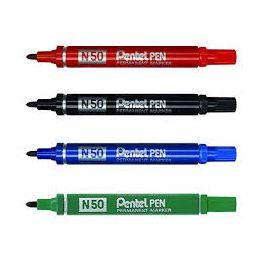 Pochette 4 marqueurs Pentel N50 assortis