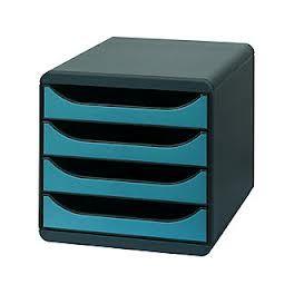 MODULE 4 tiroirs Exacompta BIG BOX TURQUOISE