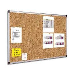 tableau d affichage fond liege 60x90 cm cadre alu la. Black Bedroom Furniture Sets. Home Design Ideas