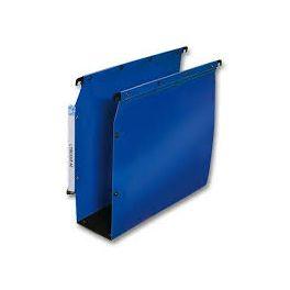 Paquet 10 dossiers suspendus bleu pour armoire fond 80mm Elba l'Oblique AZ Ultimate
