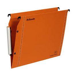 Paquet 25 dossiers suspendus fond V LMG armoire kraft orange Esselte