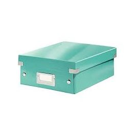 Boîte de rangement A5 Leitz Click & Store bleu glacier