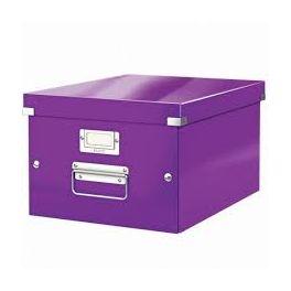 Boîte de rangement A4 Leitz Click & Store violet